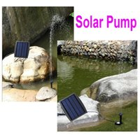 Wholesale Solar Power Submersible Water Pump Decorative Fountain for Garden Pond Pool Water Cycle V Vacuum Aquarium Pumps