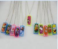 Wholesale New Arrival Kids Mini Swan Harmonica Necklace Hole Tone Musical Instruments best gift toys