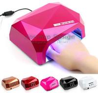 Wholesale UV Lamp LED Ultraviolet Lamp UV Nail Dryer Nail Lamp Diamond Shaped CCFL Curing for UV Gel Nails Polish Nail Art Tools