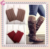 Wholesale NEW inch Lace knitted booty Gaiters Boot Cuffs Leg Warmers women girls leg warmers lace trim boot cuffs short boot socks knitted S499