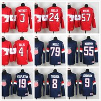 Cheap Men's stitched sport Jerseys pro Ice Hockey World Championship 3 methot 24 rielly 57 myers 35 peters embroidery