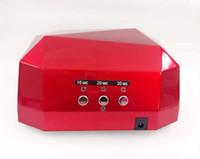großhandel ccfl light-Hohe Qualität 36W / 18W CCFL LED-Licht-Diamant-formte beste Curing-Nagel-Trockner-Nagel-Kunst-Lampen-Sorgfalt-Maschine für UV-Gel-Nagellack EU-Stecker