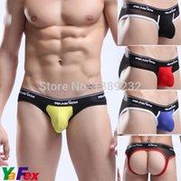 ck underwear - 2015 Men s Sexy Underwear Mens Jockstrap Comfortable Low Waist Briefs Back Hole Jock Strap Underpants Shorts X3389