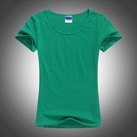 lycra t shirt - Mix Colors Retail and High Quality Lycra Women T Shirt Fashion New Style Ladies Solid Color Blank T shirt S07