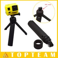 Wholesale For Gopro Hero Accessories PV Tripod Grip with Screw Lanyard for GoPro Hero Freeship
