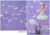 Wholesale 5x6 FT New Children Birthday Backdrops Photo Studio Backgrounds Photography Newborn Sparkle Star Fotografia Vinyl Backdrops For Photography