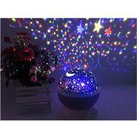Wholesale Night Lighting Lamp Gneration LED Beads Model Light Romantic Rotating Cosmos Star Sky Moon Projector