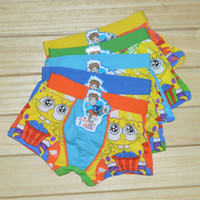 Wholesale 2016 Boys SquarePants Underwear Underpants Children Kids Boxers Cotton Briefs Cartoon Superhero Boy Cartoon underwear PC