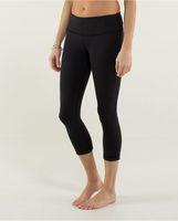 yoga - Wunder Under Crop Legging Pant Yoga Athletic Black size