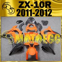 Wholesale Five Gifts Motoegg Hotsell Injection Mold Fairings For Kawasaki Ninja ZX R ZX R ZX10R Body Kit Black Orange K19M24