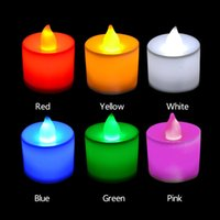 Wholesale Polypropylene Plastic Colors Candle Shape LED Fliker Flameless Candle Light For Wedding Party Holiday Decoration for make a proposal DHL