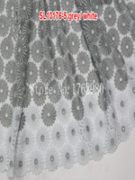 cotton lace fabric - 2015Hot sale cotton African style cord lace fabric online swiss lace material S10176