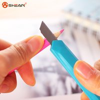 Wholesale Fashion Office Stationery Metal and Plastic Small Size Utility Knife Color Randomly Delivered