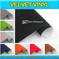 Wholesale Velvet Vinyl Wrap Velvet Car Sticker Color Changing Vinyl Wrap Air Free mX15m ftX49ft