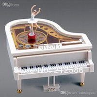 Wholesale kids classical piano toy with ballet dancer girl music box toy for girls with colorbox creative birthday gift