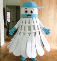 badminton outfits - High Quality Badminton Mascot Costume Blue Red Shuttlecock Badminton Cartoon Costume Adult Size Birthday Party Outfit April Fools Day Fancy