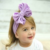 Wholesale 1 NEW Girl Kid Stretch bowknot Hairband Headband Baby Turban Knot Head Wrap Hair Accessories