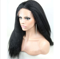 Wholesale 2014 cheap brazilian full lace wigs kinky straight unprocessed virgin hair front lace wigs natural color with natural hairline
