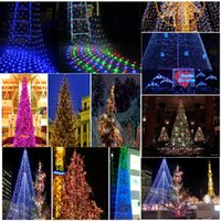 Wholesale 2 m Waterproof LED Net garland string light Christmas Holiday Party Square luminaria decoration lamps lighting outdoor