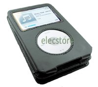 ipod classic 80gb - Black Leather Case Cover Skin for iPod Classic th Gen GB Classic th GB GB