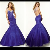 Wholesale Mermaid China Prom Dresses Sweetheart Beaded Crystal Sheer Back Hollow Formal Evening Dresses Sexy Club Dresses Party Gowns Vestidos