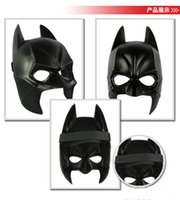 Wholesale 2015 masquerade masks Halloween Costume Party Cartoon superhero Male Adults children kids Batman Black Plastic mask for masquerade ball