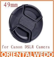Wholesale 10pcs Univeral mm Center Pinch Snap on Front Lens Cap DSLR Camera off