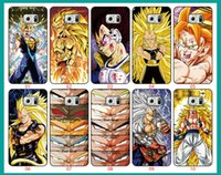 caso del iphone 5c del animado al por mayor-Anime Dragon Ball Z Super Saiyan Para Samsung Galaxy S6 borde S5 S4 S3 Nota 5 4 3 Para iPhone 6 6 Plus 5 5S 5C 4S iPod Touch 5 cajas de teléfono
