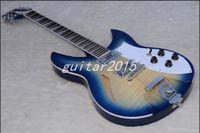 Wholesale Chinese guitar Blue Flame maple veneer string electric guitar