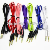 audio calbe - 3 mm Aux Pole Stereo Male to Male Noodle Shape Speaker Calbe Car AUX Audio Cables
