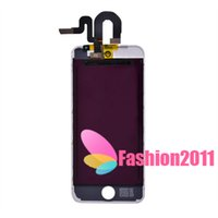 Wholesale For iPod Touch LCD Display Digitizer Touch Screen Glass Assembly Complete LCD Screen Replacement Black White C