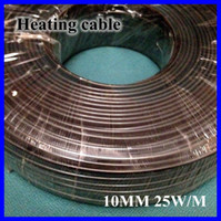 Al por mayor-anticongelante Escarcha Protección Calefacción Cable para pipa de agua / Azotea 230V 10MM 25W / M 65C Auto Regulación Calentador eléctrico de alambre de cobre