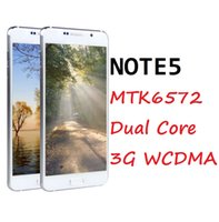 Wholesale Note5 MTK6572 Dual Core G WCDMA MB RAM GB ROM Android OS