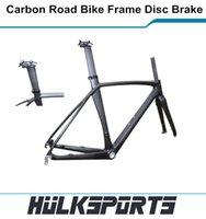 Wholesale Hulk sports Road Disc Brake Carbon Road Bike Frame Full Carbon Frame Di2 Weave Carbon Road Frame Include Carbon Fork
