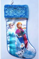 Wholesale Frozen Christmas Stockings Xmas Cartoon Socks Pricess Elsa Anna Socks cm Gift Socks