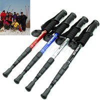 Wholesale Durable Adjustable AntiShock Hiking Trekking Walking Pole Cane Stick Crutch