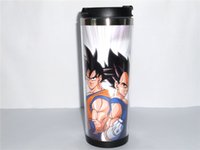 ball lid - New Dragon Ball Goku Vegeta Creative Coffee Cup Travel Water Cup Stainless Steel Cup ML CM OZ