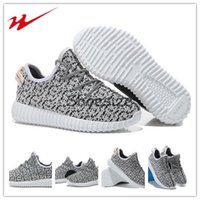 Cheap Xayakids Brand New Comfortable Kanye West Yeezy 350 Boost Kids Shoes Children's Athletic Running Shoes Grey boys shoes boy and girls boots