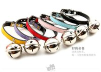 adorable small dogs - 100pcs Explosion models oversized pet collar dog bell necklace pet bell pet collar adorable cat collars