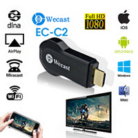 airplay mirror pc - Wi Fi Display Wecast C2 TV Dongle Receiver Mini PC P AirPlay Mirroring DLNA Miracast HDMI TV stick for HDTV Tablet PC V1111