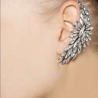 Wholesale High Quality Fashion Gold Luxury Women Rhinestone Ear Cuff New Crystal Clip Earrings factory wholesales