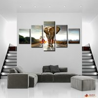 Cheap Painting On Wall Elephant Painting Canvas Wall Art Picture Home Decoration Living Room Canvas Print Modern Painting-Large Canvas Art Cheap