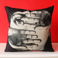 Wholesale 2015 Italian Fornasetti Pillowcase series creative art Bedroom A living room Cafe Pillowcase Cushion