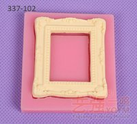 frame moulding - YQYM New Arrival hot sale flower silicone cake mirror frame baking silicone cake soap mould chocolate cakes fondant mold