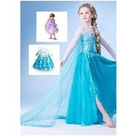 Wholesale frozen dress New girls clothing Elsa Anna frozen Dress For Girl Princess Dresses party costume