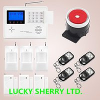 auto dialer gsm home alarm - Quad band Dual Net Wireless Wired GSM PSTN Home Burglar Auto Dialer Alarm Security System PIR