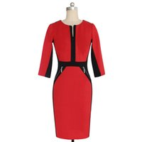 Wholesale S5Q Womens OL Office Work Dresses Stretch Bodycon Work Cocktail Lady Slim Pencil Party Mini Dress AAAEBJ