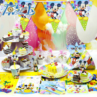 Wholesale 2015 Luxury Kids Birthday Party ecoration Set Mickey Kitty and Winnie the Pooh theme Party Supplies Pack cupcake stand set V15032605