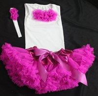 Wholesale baby girl tutu pettiskirt and top set girl three piece set tutu princess skirt and top two piece set gz guobang girl tutu set