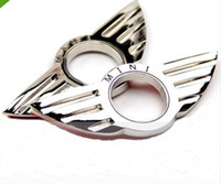 Wholesale by DHL cm x cm MINI Wing CHROME METAL DOOR PIN LOCK CAR EMBLEM BADGE COOPER Sticker